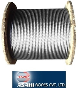 Asahi Ungalvanized Steel Wire Rope (Sc) - Dia  16mm, Size  6x36mm