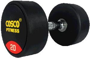 Cosco 20 Kg Round Rubber Dumbbell 28406
