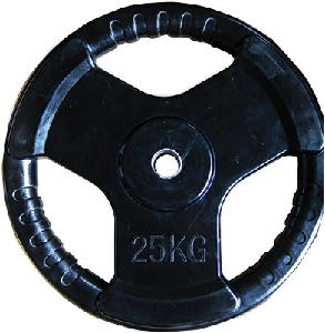 Cosco 25 Kg Rubber Weight Plate With Metal Insert 28507