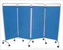 Wellton Healthcare 4 Pannel Bed Side Screen Blue Wh-147