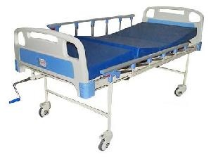 Wellton Healthcare Semi Fowler Hospital Bed With Mattress, Side Railing And Wheel Wh-509 B