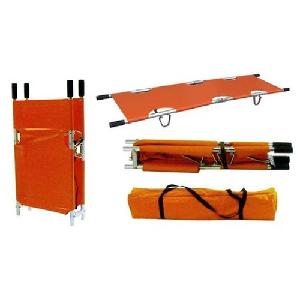 Wellton Healthcare 2 Fold Aluminium Folding Type Stretcher Wh-4006
