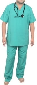 Ib Basics V-Neck Unisex Scrub Suit Set Green 85030-M