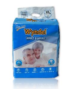 Wyndel Adult Diapers Extra Large - 10 Pcs Combo Of 12 Pack