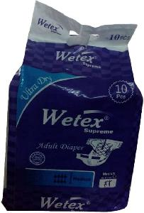 Wetex Supreme Medium 10 Pcs Adhesive Band Adult Diapers 1003-P