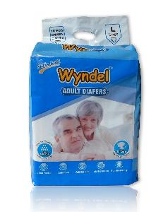 Wyndel Adult Diapers Large - 10 Pcs Combo Of 12 Pack