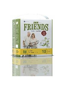 Nobel Medium Friends Easy Adult Diaper - (Pack Of 10 Pcs)
