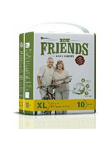 Nobel Extra Large Friends Easy Adult Diaper - (Pack Of 10 Pcs)