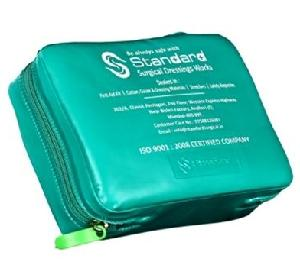 Standard Green Rexine Pouch Travel Kit