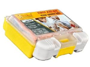 Standard Yellow Plastic First Aid Kit Nano