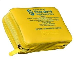Standard Yellow Rexine Pouch Emergency Kit