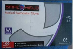 Safeshield Large Pre Powdered Latex Examination Gloves