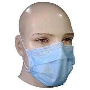 Nuvo Medsurg Disposable Face Mask 4 Ply With Elastic (Green) Pack Of 100