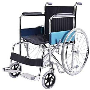 Ib Care Folding Wheelchair With Spoke Wheels Ss Finish 601