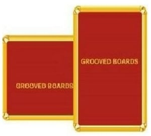 Asian 600 X 900 Mm Red Color Grooved Board