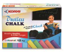 Kores Britemark Dustless Chalk Coloured Chalk (12 Nos) Pack Of 240 Boxes
