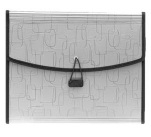 Solo EF 829 Magic Square Portfolio - Six Section A4 - Metalic Grey