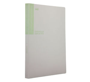 Solo Df 502 Certificate Display File - 20 Pockets (Grey)