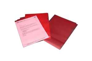 Solo Ch 107 Document Envelope (Button) - Transparent Pink