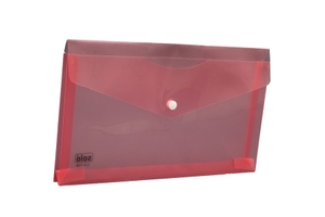 Solo Ch 108 Cheque Envelope (Button) - Transparent Pink
