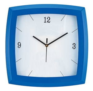 Asian Square Blue Wall Clock 20