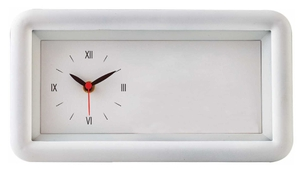 Asian Rectangle White Wall Cum Table Clock 45