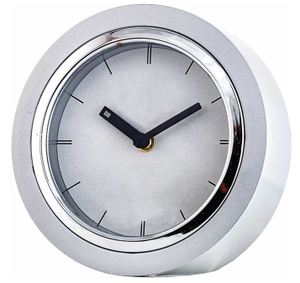 Asian Round White & Silver Wall Cum Table Clock 49