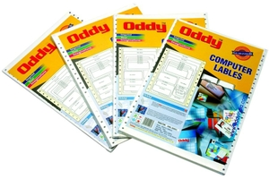Oddy  Dot Matrix Continuous One Across Web Paper Labels Sheet Box Packing 1000 Labels (Set Of 2)