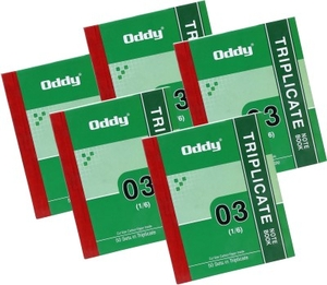 Oddy Tnb-03 1/6 Triplicate Note Book 50 Sets (Set Of 5)