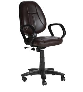 Vj Interior Galleta Brown Color Task Chair