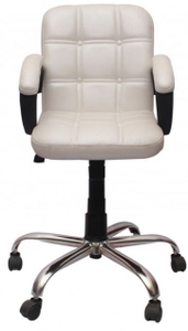 Vj Interior Visitor Chair White 19 X 19 X 39 Inch Vj-129-Visitor-Lb