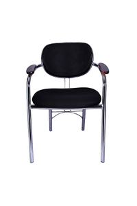 Stellar Visitor Office Chair Black 495 X 450 X 770 Mm