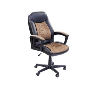 Stellar Pu High Back Office Chair Black And Brown 500 X 500 X 1070 Mm