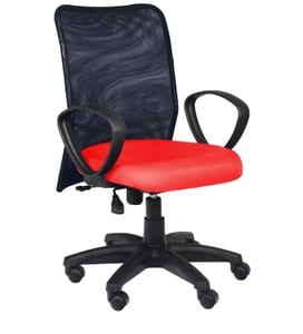 Divano Red And Black Color Modular Office Chair Dm 94