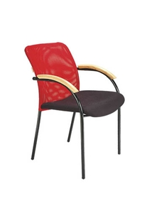 Swift Net Chair Red And Black Color Sm 506