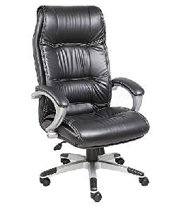 High Back Executive Chair In Black Leatherette Black