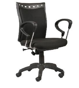 Parin Techno High Back Office Chair Fixed Arm|Pc 907 Black|-Black