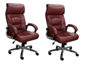 Regent Leatherite Fabric Office Chair Rsc 1314 Combo (Pack Of 2)