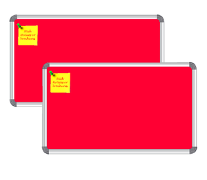 Nechams Notice Board Deluxe Combo Pack Of 2 Units Color Red Nbred32uf2pk