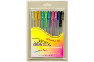 Sakura Xpgb-Me Assorted Gelly Roll Glaze Gel Pen Pack Of 10