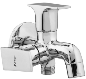 Kerro Two Way Bib Cock Faucet (Material Brass, Finishing Chrome) - Si 11