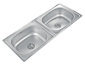 Buy Neelkanth Inset LN 4820 DB-R Double Bowl Kitchen Sink NK DB4 L ...