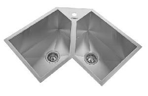 Buy neelkanth corner sink double bowl small kitchen sink hm cdb 02 neelkanth corner sink double bowl small kitchen sink hm cdb 02 workwithnaturefo