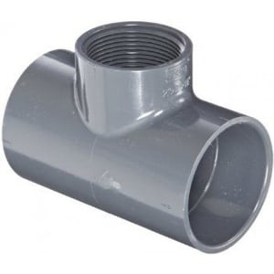 Prince Threaded Tee Pipe Fitting Injection Moulded Size - 110x63