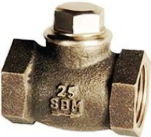 Sant Valve Bronze Horizontal Lift Check Valve No. 4 (Size 40 Mm, Body Test Pressure 21.09kg/Cm²G)