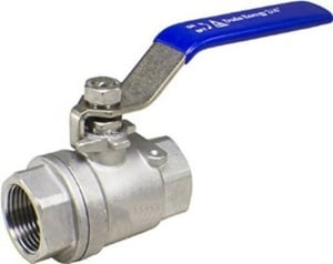 Techno Stainless Steel 2 Pc Full Bore Ball Valve - Size 2 Inch