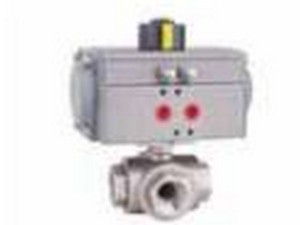 Techno Act52 Thread Size 1/2'' 3 Way Ball Valve L/T Port