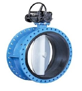 Valvequip 450mm Ss 316 Disc Double Flanged Butterfly Valve Vq-21.3