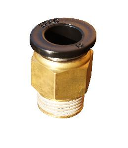 "Spac 6 Mm Bsp 1/8"" Male Connector Epc6-01"