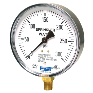 Wika Dual Scale Commercial Bourdon Tube Pressure Gauge (Nominal Size 100mm, Range 0 - 28)